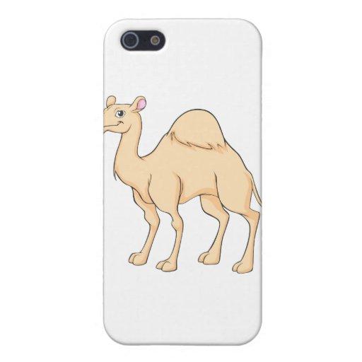 Dibujo animado feliz del camello iPhone 5 protectores