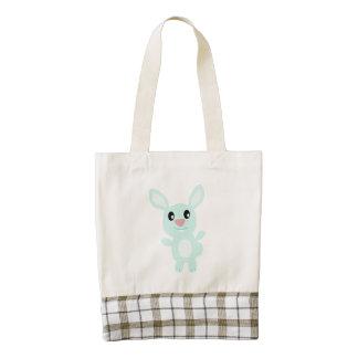 Dibujo animado feliz del conejito bolsa tote zazzle HEART