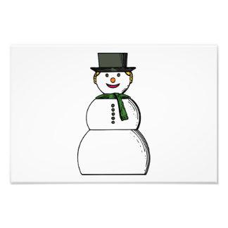 Dibujo animado feliz del muñeco de nieve arte con fotos