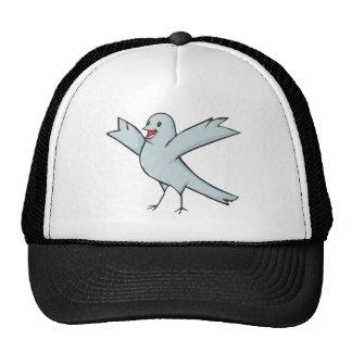 Dibujo animado feliz del pájaro de la paloma gorros bordados