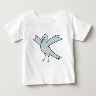 Dibujo animado feliz del pájaro de la paloma remera