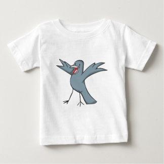 Dibujo animado feliz del pájaro del cuervo poleras