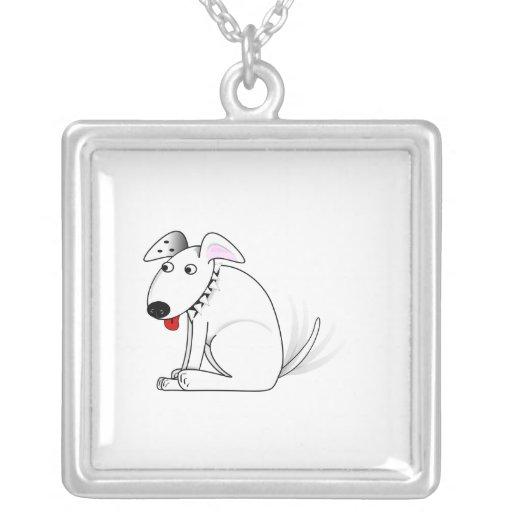 Dibujo animado feliz del perro colgantes personalizados