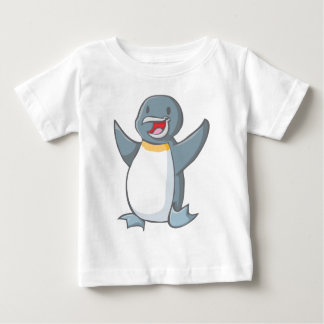 Dibujo animado feliz del pingüino de emperador playeras