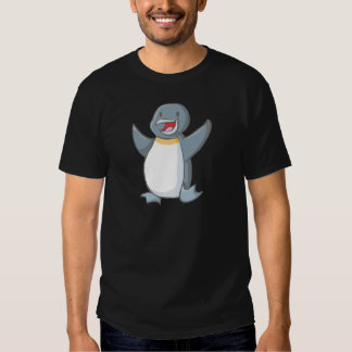 Dibujo animado feliz del pingüino de emperador remera