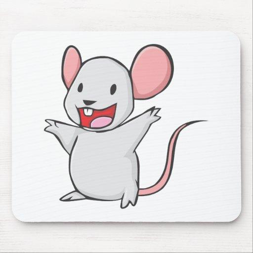 Dibujo animado feliz del ratón tapete de ratones