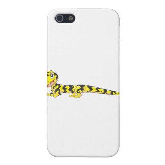 Dibujo animado feliz del Salamander de tigre iPhone 5 Carcasas