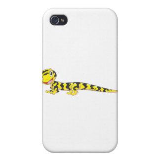 Dibujo animado feliz del Salamander de tigre iPhone 4 Carcasa