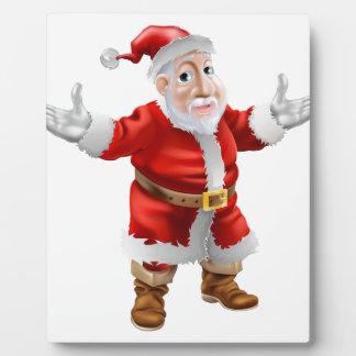 Dibujo animado feliz Santa Placas Con Fotos