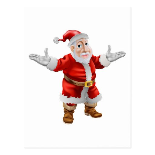 Dibujo animado feliz Santa Postal