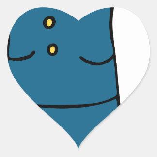 Dibujo animado femenino del oficial de ejército pegatina en forma de corazón