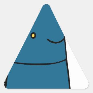 Dibujo animado femenino del oficial de ejército pegatina triangular