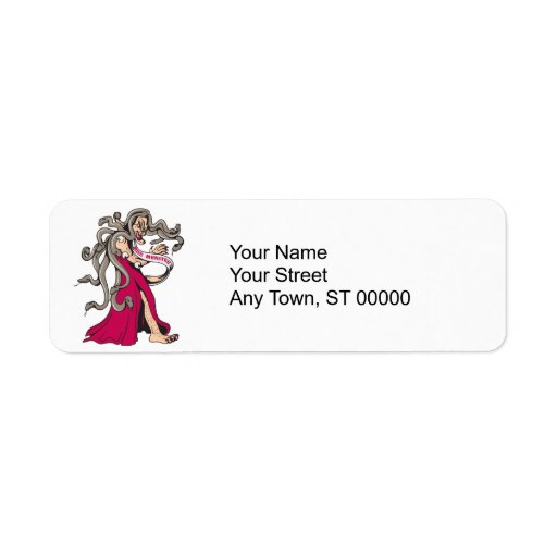 dibujo animado feo del ganador del desfile del mon etiqueta de remite