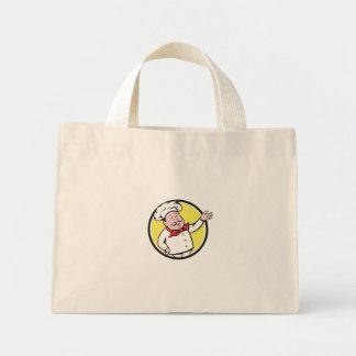Dibujo animado francés del círculo del saludo de bolsa de tela pequeña