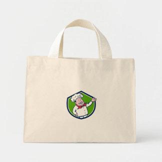 Dibujo animado francés del escudo del saludo de la bolsa de tela pequeña