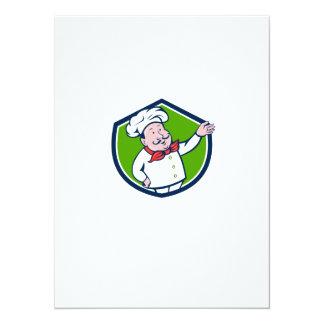 """Dibujo animado francés del escudo del saludo de la invitación 5.5"""" x 7.5"""""""