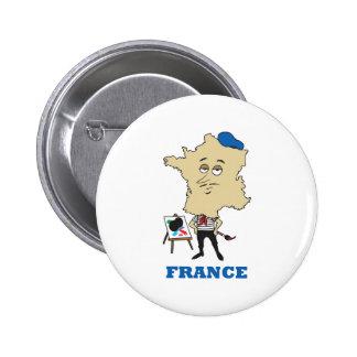 Dibujo animado Francia Pin