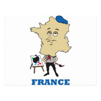 Dibujo animado Francia Postal
