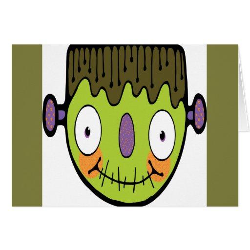 Dibujo animado Frankenstein Tarjeta De Felicitación
