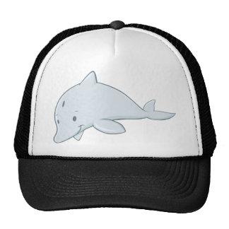 Dibujo animado fresco del delfín de Bottlenose del Gorras