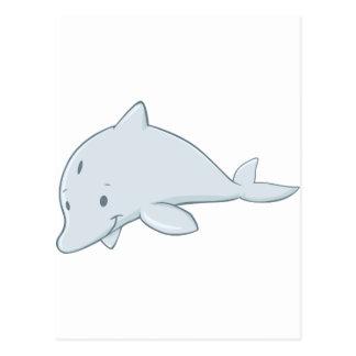 Dibujo animado fresco del delfín de Bottlenose del Postal
