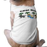 Dibujo animado fresco del fiesta de la playa de La Camisa De Perrito