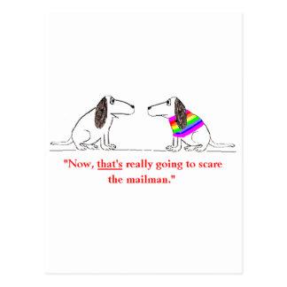Dibujo animado gay #5 del perro tarjeta postal