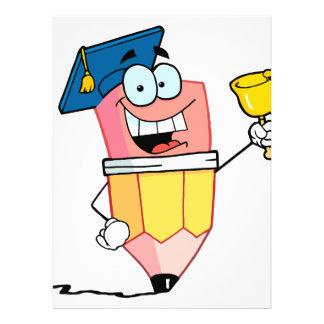 dibujo animado graduado del lápiz que suena una ca comunicado