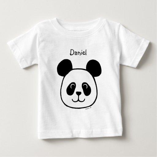 Dibujo animado grande personalizado de la panda de playera de bebé