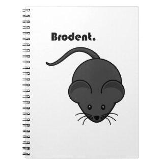 Dibujo animado gris de Bro de la rata o del ratón  Libretas Espirales