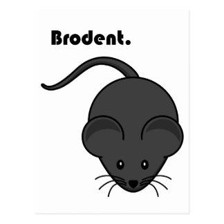 Dibujo animado gris de Bro de la rata o del ratón Postales