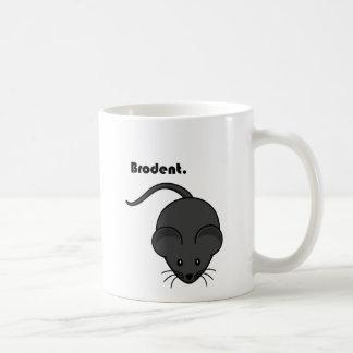 Dibujo animado gris de Bro de la rata o del ratón Taza Clásica