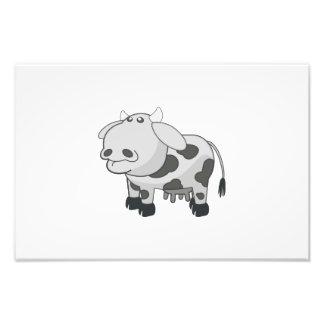 Dibujo animado gris de la vaca fotografías