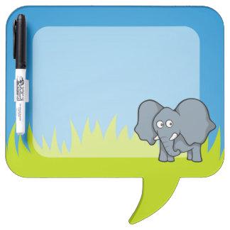 Dibujo animado gris del elefante pizarras