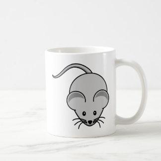 Dibujo animado gris del ratón taza