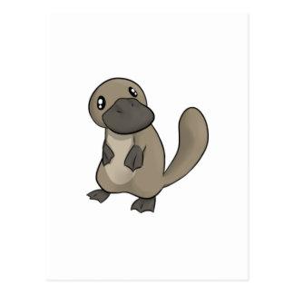 Dibujo animado gris/gris Platypus Tarjetas Postales