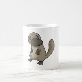 Dibujo animado gris/gris Platypus Taza
