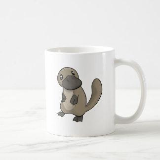 Dibujo animado gris/gris Platypus Taza Clásica