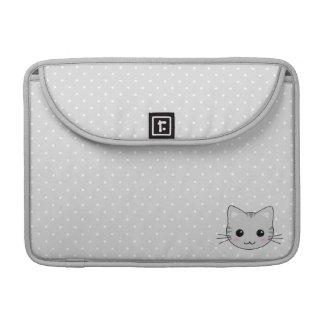 Dibujo animado gris lindo del gato de Tabby de Fundas Macbook Pro