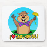 Dibujo animado Groundhog Alfombrillas De Ratón