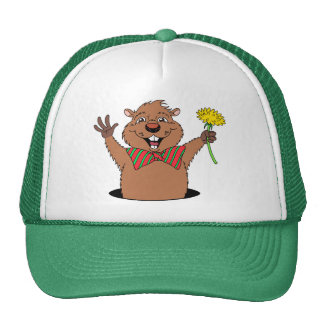 Dibujo animado Groundhog Gorra