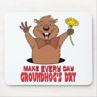 Dibujo animado Groundhog Alfombrillas De Ratones