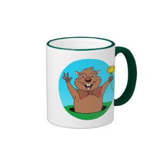 Dibujo animado Groundhog Taza De Café