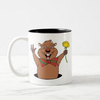 Dibujo animado Groundhog Taza