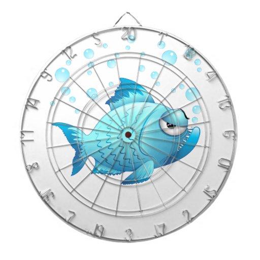 Dibujo animado gruñón de los pescados