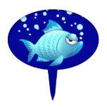 Dibujo animado gruñón de los pescados figuras para tartas