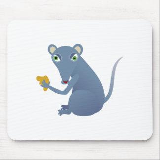 Dibujo animado hambriento del ratón