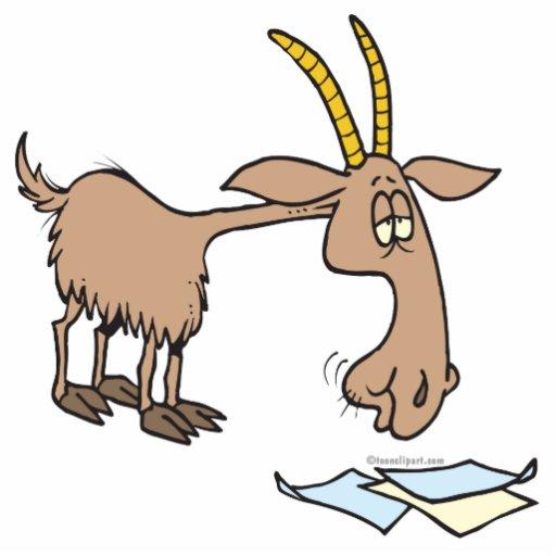dibujo animado hambriento lindo de la cabra llavero fotográfico