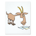 dibujo animado hambriento lindo de la cabra comunicados