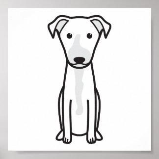 Dibujo animado hawaiano del perro del Poi Posters